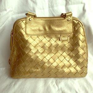Charles David tote bag Gold Leather